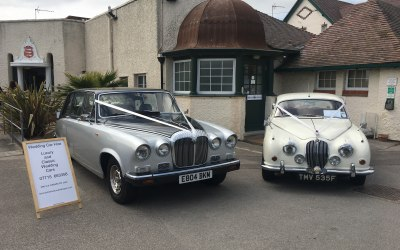 Daimler Limo and Jaguar MK2