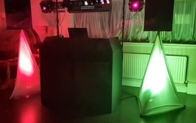 Full sound, lighting and compère service.