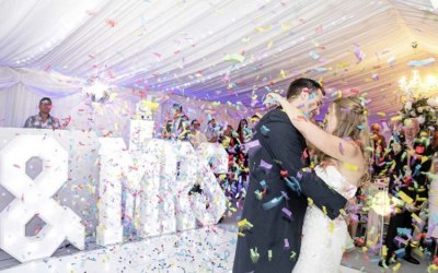 First Dance with Confetti Shower