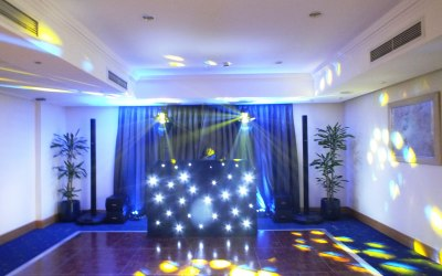 Birthday party set up with a crystal clear top of the range Bose L1 sound system.