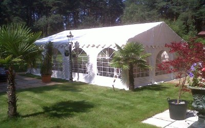 Marquee with window walls