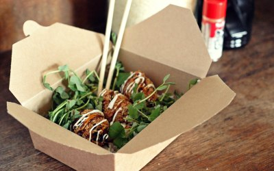 Croquettes with rice, ponzu & Japanese mayonnaise