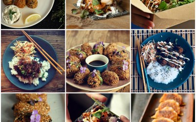 Examples of our food - canapes and street food options