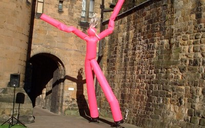 Air Dancer at Alnwick Castle