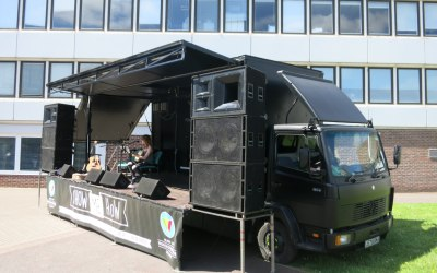The Stage Bus - Stage Hire Leicestershire