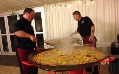 giant paella caterer Nottingham Leicester Milton keynes