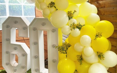 Organic Balloon Garland for a Birthday Party