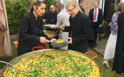Paella Party with our service staff