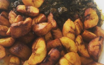 'What a Palaver!!' - Plantain & Spinach (Palaver) stew