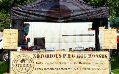 Hog roast set up at a Steamshow Event