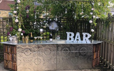 outdoor, in door bar reading  wedding for a fantastic wedding
