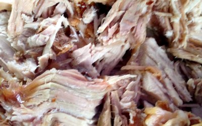 Delicious and moist shredded Hog Roast