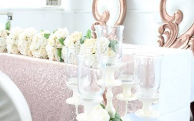 Rose Gold theme décor