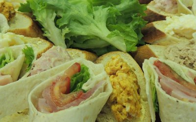 Wraps with a selection of fillings