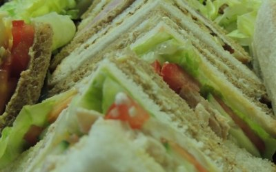 Selection of quarter cut sandwiches with various fillings
