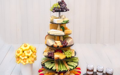 Deluxe 7 Tier Cheese Tower Display by Fruity Bouquets
