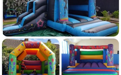 Disco castle and slide + two other castles