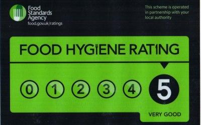 5/5 Food Rating