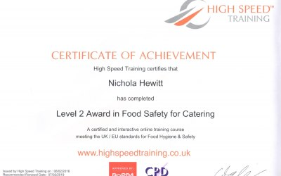 All our staff are food safety trained