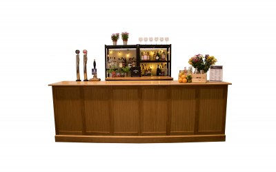 10 ft Oak Bar Set Up