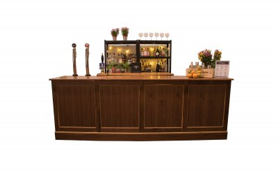 10ft Walnut Bar Set Up