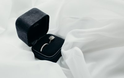 Tiffany's Engagement Ring & Wedding Ring