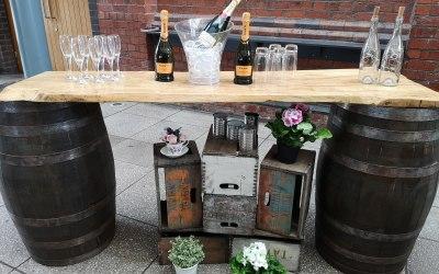 Mobile Wood Barrel Bar