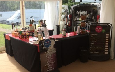 Serving exceptional coffee and snacks at corporate promotional event