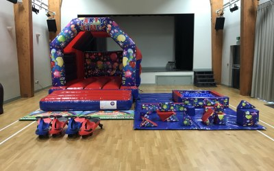 bouncy castle and softplay package