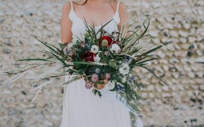 Rebel bride bouquet