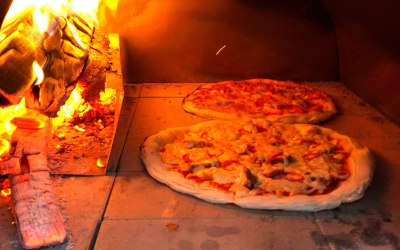 Real wood fired pizza's made fresh!