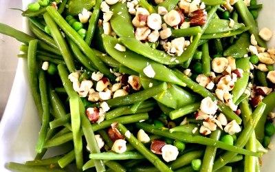 Green Bean, Mange Tout, Orange and Hazelnut Salad