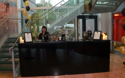Our 'Classic Black' bar at a corporate party in Exeter