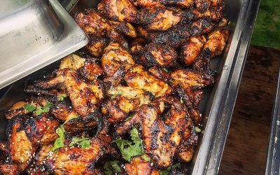 Oak-Smoked Chicken Wings - Ready to be Served
