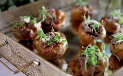 Canapés - An example of our Mini Yorkshire Beef & Horsesraddish