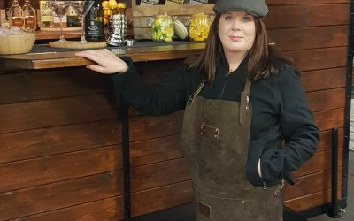 Vera Our vintage Horse Box Bar showing off Peaky Blinders Bar