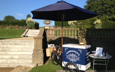 Garbanzo's Ice Cream Hire at Hartham Park