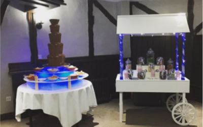 Chocolate Fountain and Candy Cart