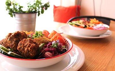 Falafel & Hummus Salad Bowls
