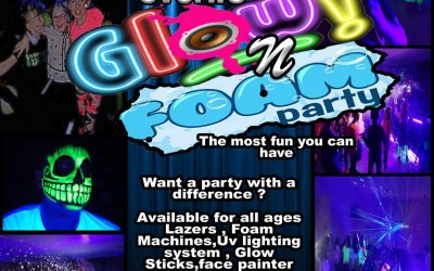 Glow and uv foam party