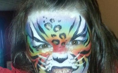 Rainbow tiger leopard mash up