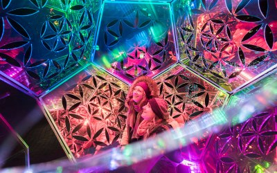 Looking inside the dazzling dodecahedron installation