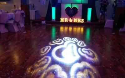 Wedding Setup with Green Lighting