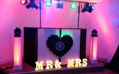 Wedding Setup with Red Lighting