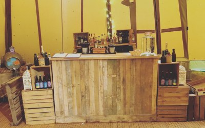 Reclaimed Wooden Bar