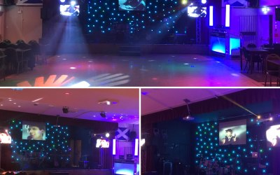 80's night. Video disco. 300 guests Corby