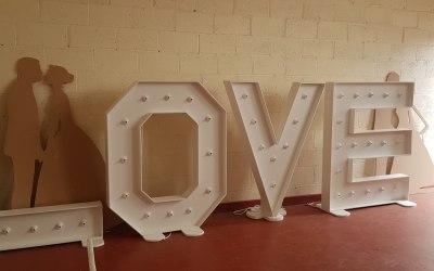 LED Floor Standing Love Letters