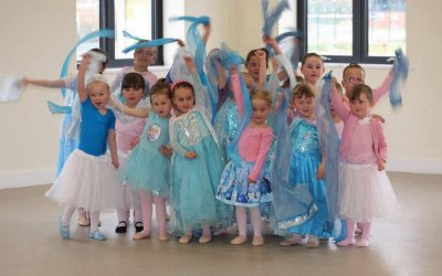 Frozen themed children's dance party