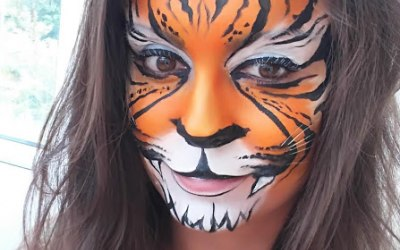 White Whiskers Face Painting 6