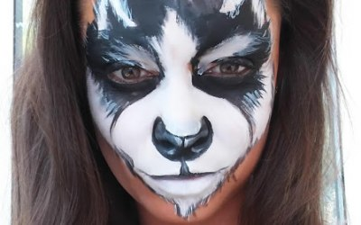 White Whiskers Face Painting 5